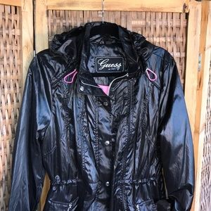 Adorable Guess Rain Jacket Trench NWOT